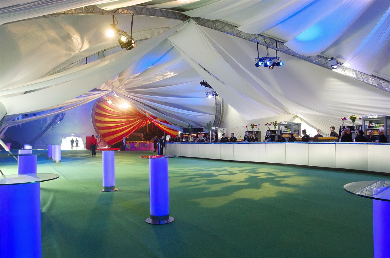 Photo of inside a large marquee & Large Marquee Hire | Amazing Tent
